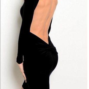Open back black Cefian dress